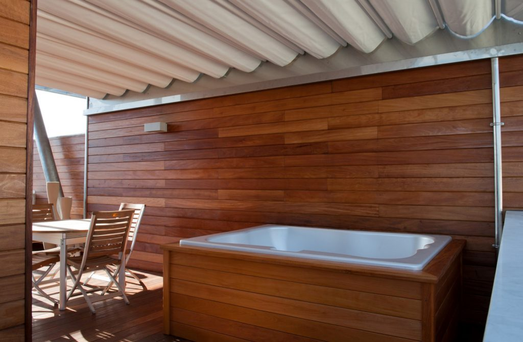 Hot tub cladding