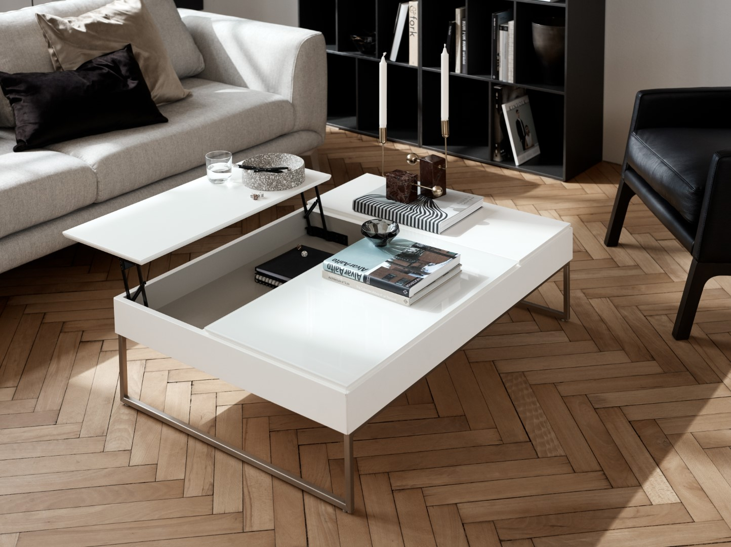 Chiva coffee table with storage by BoConcept