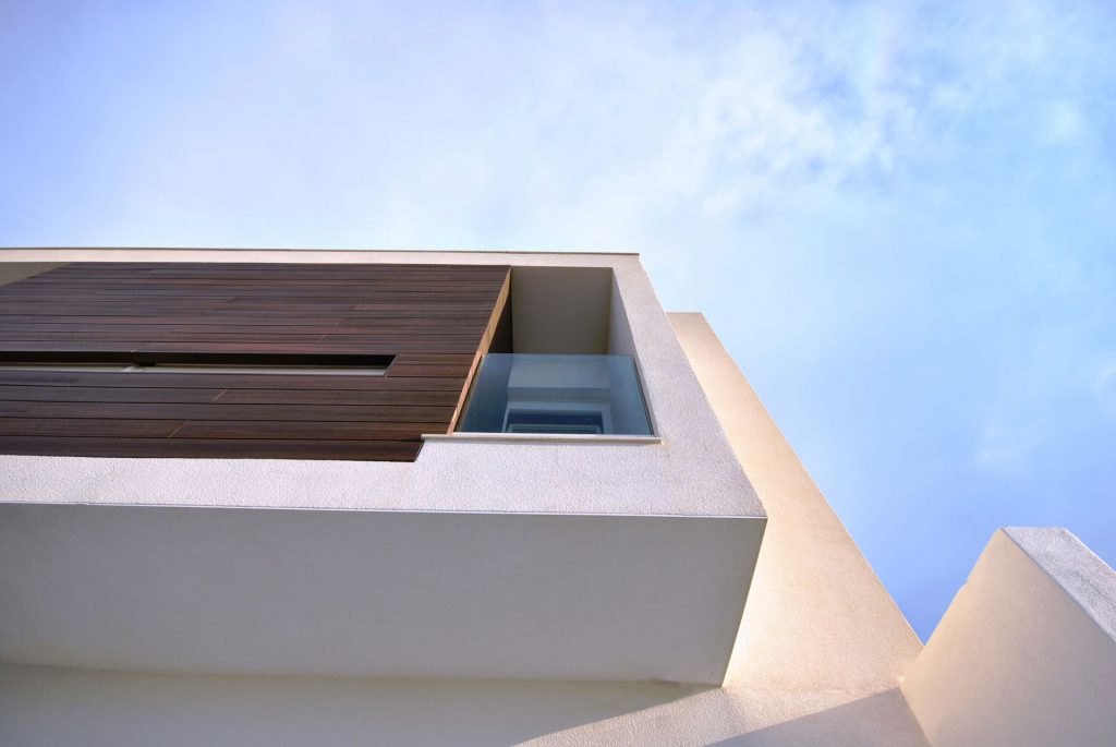 Cladded Balcony in stained pressure treated timber