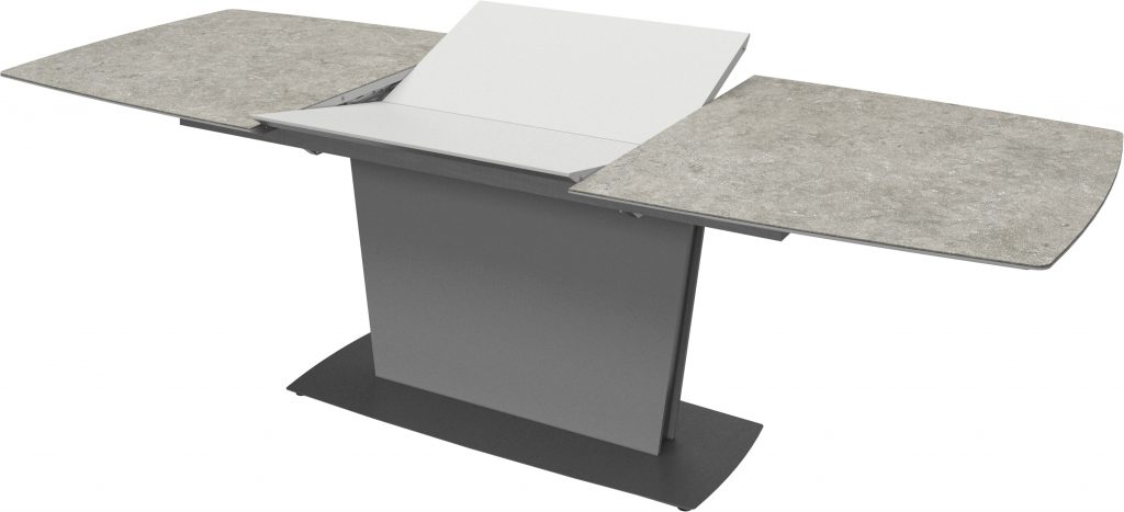 Milano extendable table in ceramic top